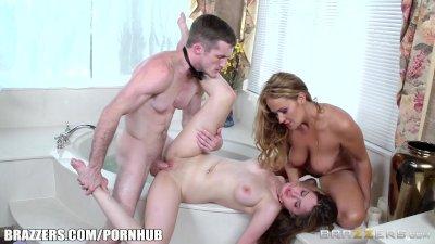 Brazzers - Sexy bathroom three