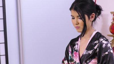 Asian lesbians showering in ea