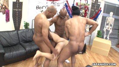 Three black men destroy the As