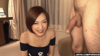Blowjob Cfnm video: Subtitles - Japanese babe Nene Iino suck dick