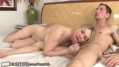 Blonde Blowjob movie: Mom Caught getting Anal from Son-in-Law