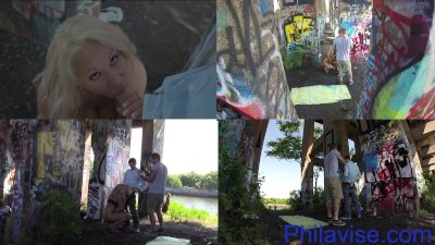 PHILAVISE- Public multi angle with milf Alyssa Lynn