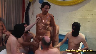 swinger party with oiled stepm