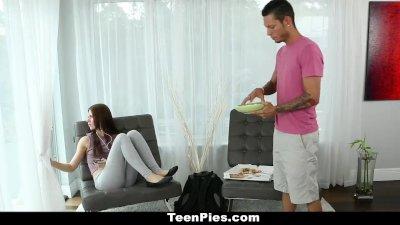 TeenPies - Skinny Brunette Pay