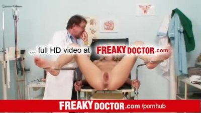 Kristy Lust an awesome blonde fingered by old doctor