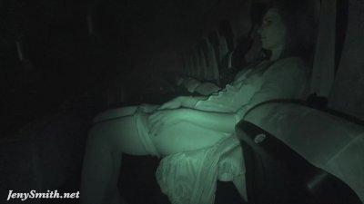 Jeny Smith undresses at movie