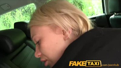 Blowjob Cumshot Doggystyle video: FakeTaxi Hot blonde sucks dick and takes it from behind in taxi