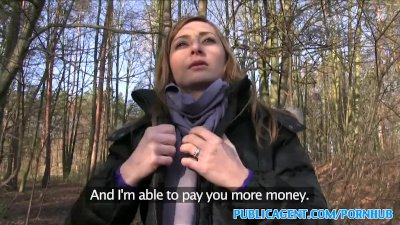 Blowjob Car Cumshot video: PublicAgent Sales lady has sex in a forest